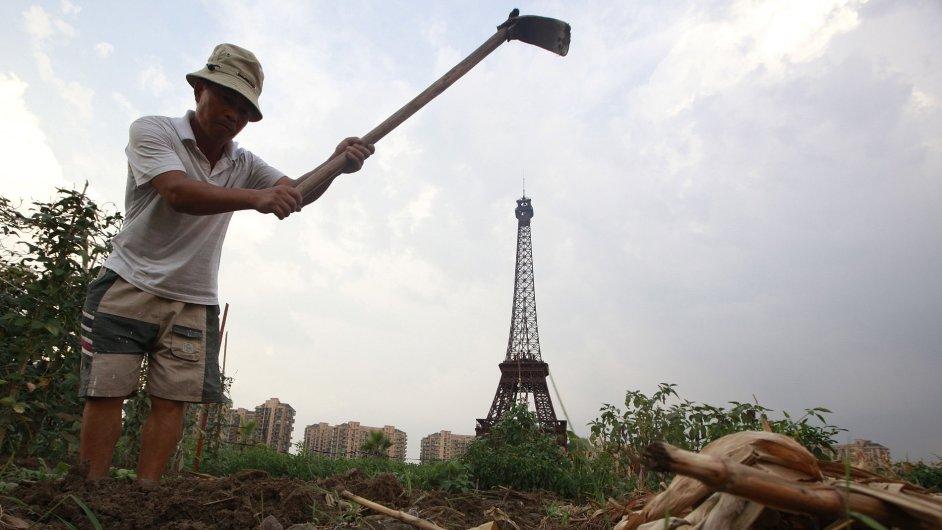 Město Tchien-tu-čcheng, imitace Paříže v Číně