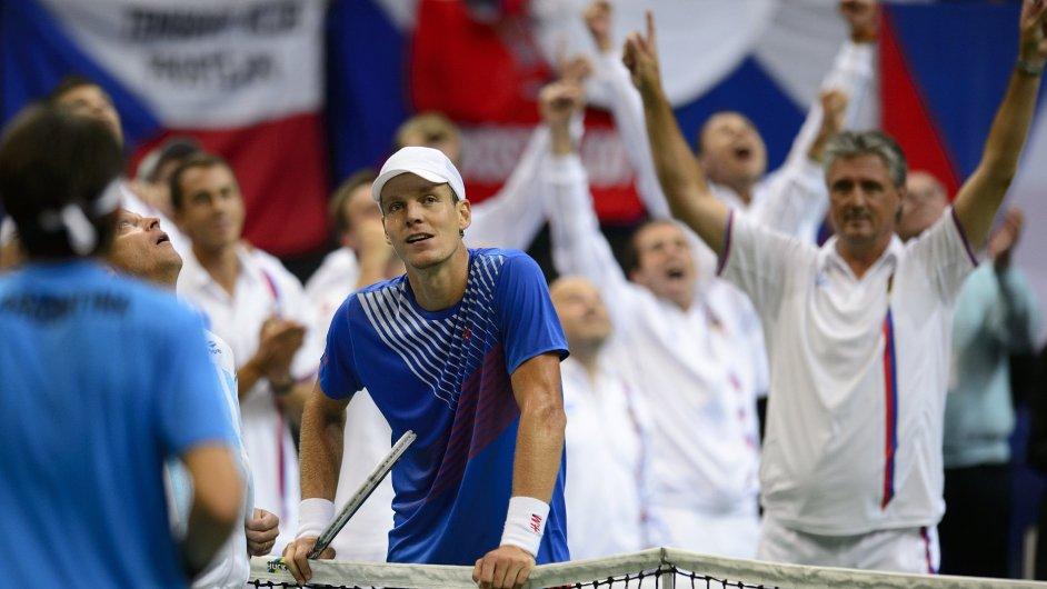 Tomáš Berdych získal pro Česko druhý bod.