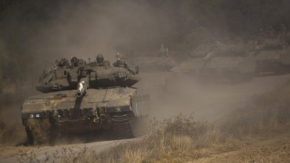 Izraelský konvoj v Pásmu Gazy
