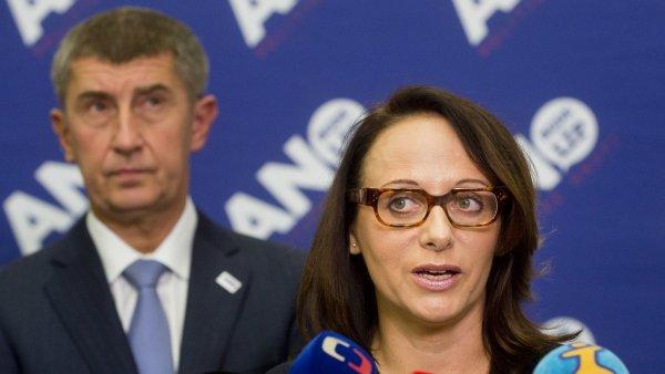 Volební centrum hnutí ANO v Praze 11. října