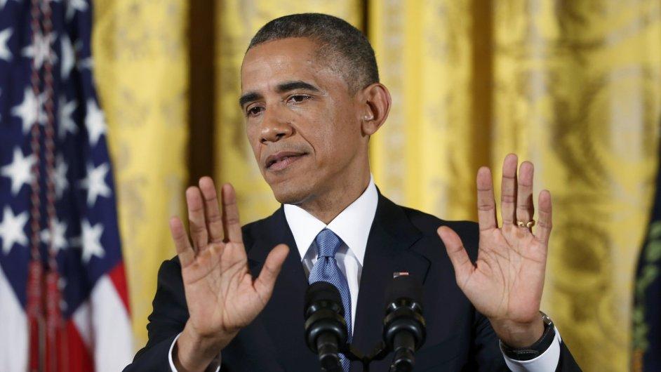 Barack Obama komentuje výsledky voleb.