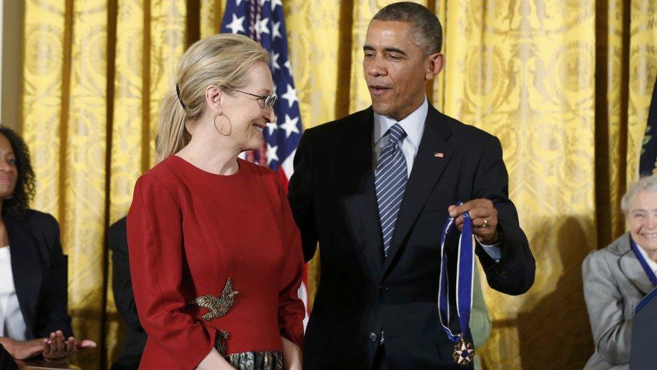 Barack Obama a Meryl Streepová.