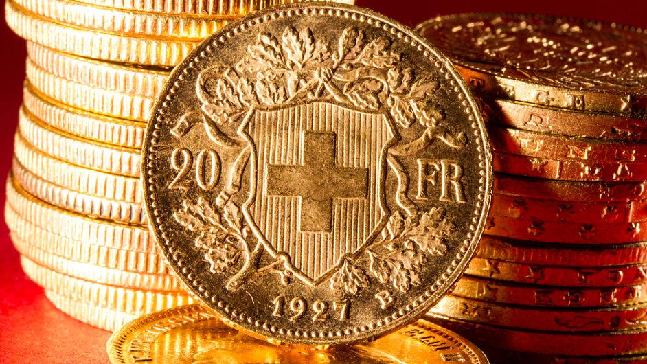 Švýcarský frank. Ilustrační foto