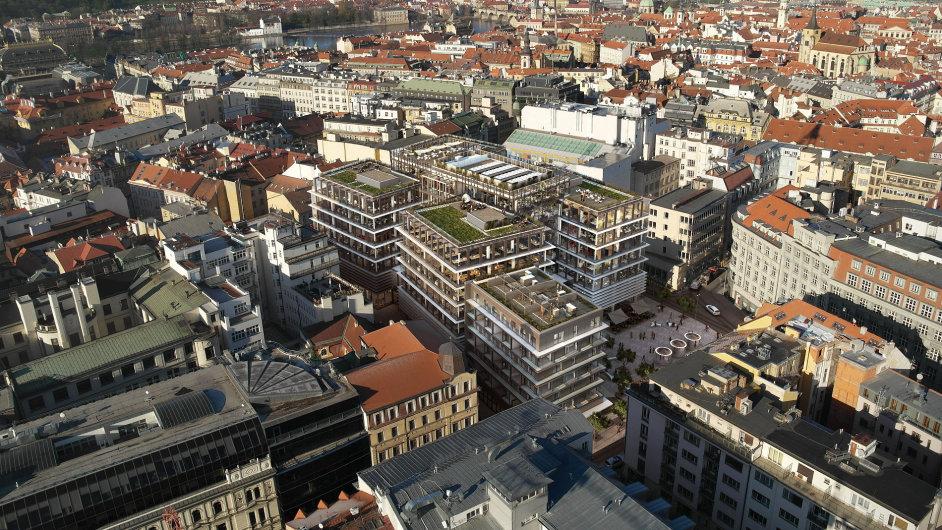 CPI Property Group postavila administrativní centrum Quadrio v Praze na Národní.