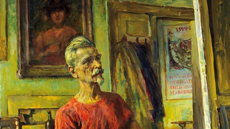 Košvancův zralý Autoportrét z roku 1957.