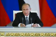 Ruský prezident Vladimir Putin sděluje stanovisko po svém jednání s egyptským protějškem.