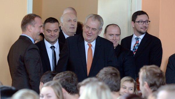 Prezident Miloš Zeman se 9. února v rámci své návštěvy Plzeňského kraje setkal s žáky klatovských středních škol.
