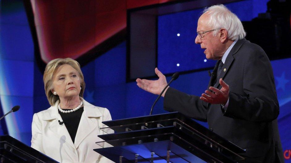 USA, volby, prezident, Sanders, Clinton