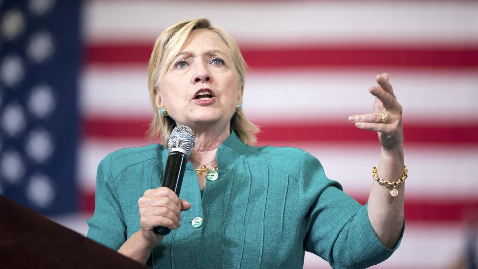 Demokratická kandidátka na prezidentku Spojených státu Hillary Clintonová.