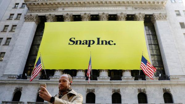 Hodnota akcií Snapu se propadla na upisovací hodnotu.