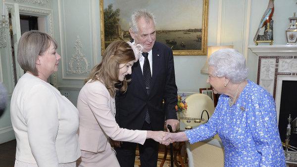 Prezident Miloš Zeman na návštěvě u Alžběty II.