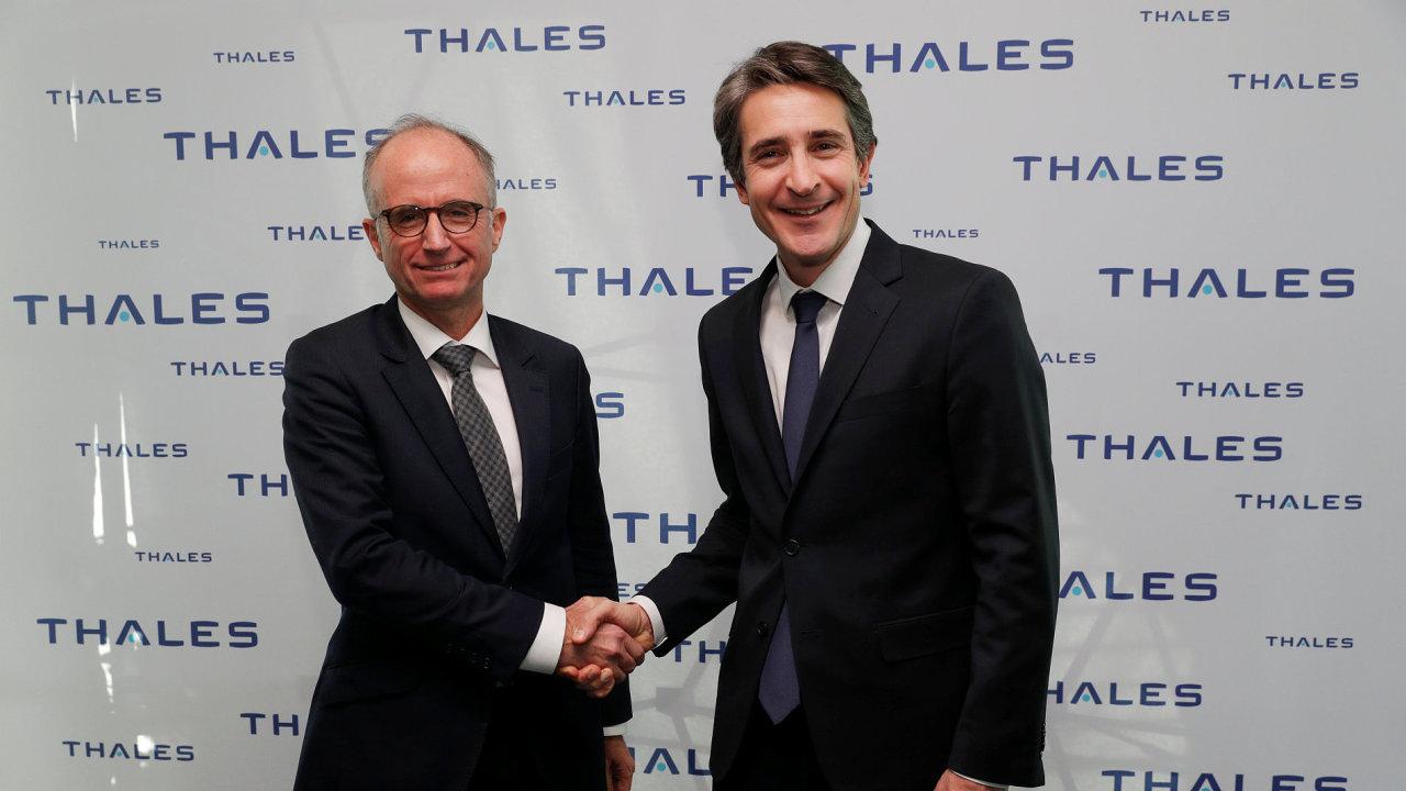 Patrice Caine, ředitel společnosti Thales, a Philippe Vallee, ředitel nizozemského Gemalta.