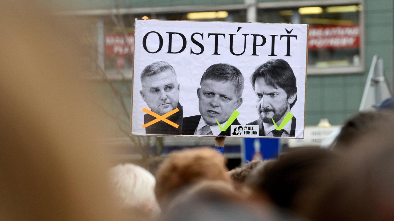 Protest za odstoupení policejního prezidenta Tibora Gašpara, Slovensko