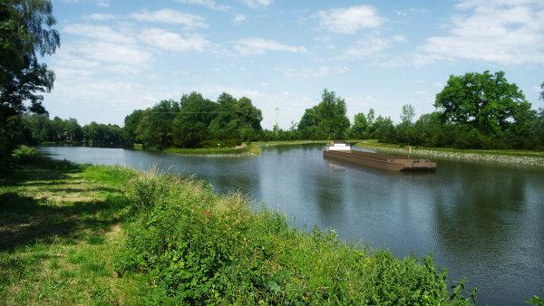 Vizualizace kanálu Dunaj–Odra–Labe.