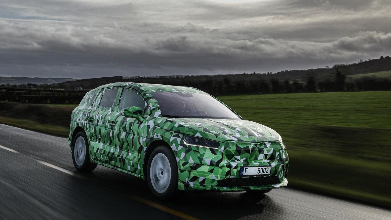 Škoda Enyaq. Výkon: 109 kW, dojezd: 340 km, cena: zatím nezveřejněna