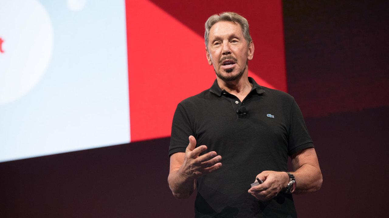 Larry Ellison, šéf společnosti Oracle a pátý nejbohatší člověk planety.