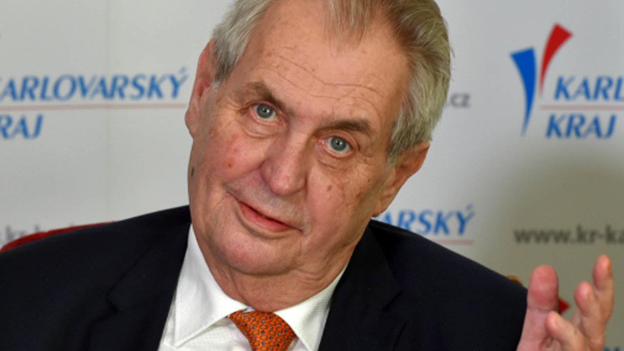 Prezident Miloš Zeman uvedl, že po říjnových volbách pověří sestavením vlády nejsilnější stranu, nikoliv koalici.