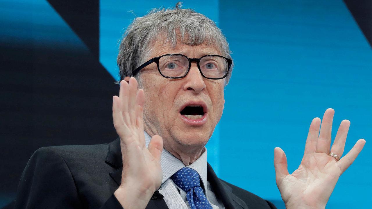 Boj za lepší klima. Bill Gates chce v listopadu na světové klimatické konferenci přednést své představy.