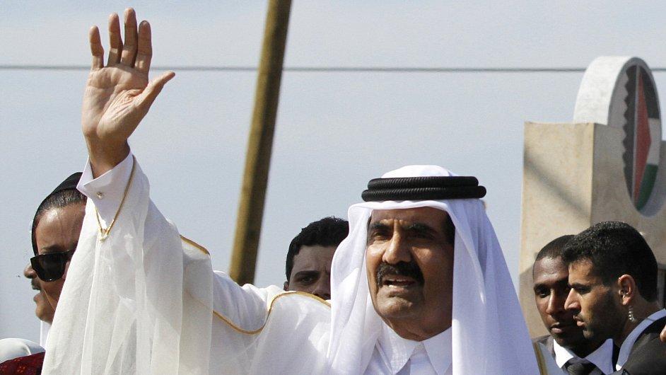 Katarský emír šajch Hamad bin Chalífa Sání