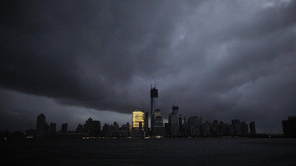 Manhattan bez elektrického proudu.