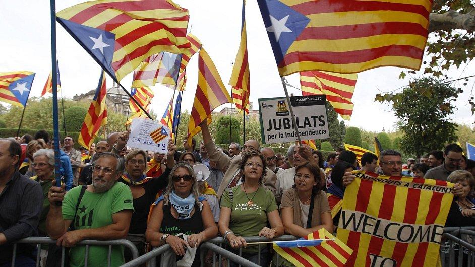 Demonstrace na podporu katalánské nezávislosti