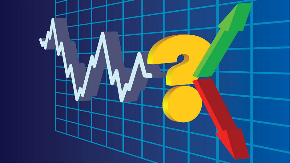 Graf, volatilita, nejistota, ilustrační foto