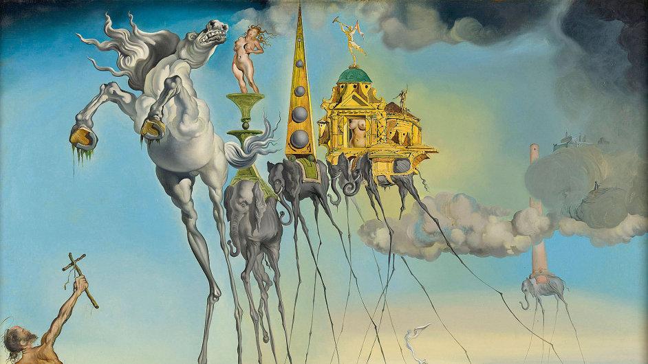 Z výstavy nazvané Dalí: Todas las sugestiones poéticas y todas las posibilidades plásticas