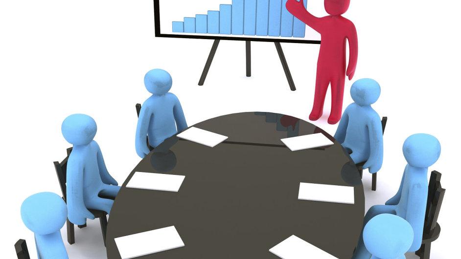 Zasedání, představenstvo, dozorčí rada. Ilustrační foto