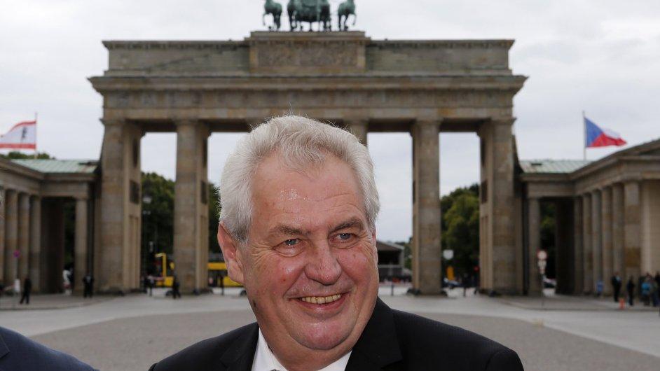 Miloš Zeman na oficiální návštěvě v Berlíně