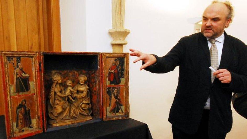 Jiří Fajt při zahájení výstavy Europa Jagellonica.