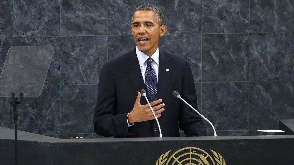 Barack Obama hovoří k Valnému shromáždění OSN