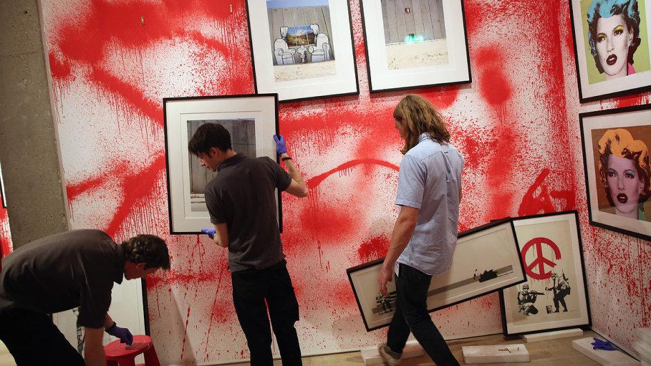 Snímky z výstavy Banksy: The Unauthorised Retrospective