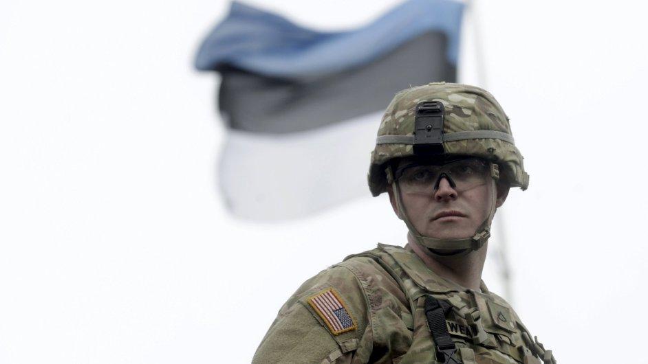Americký voják umístěný v Estonsku
