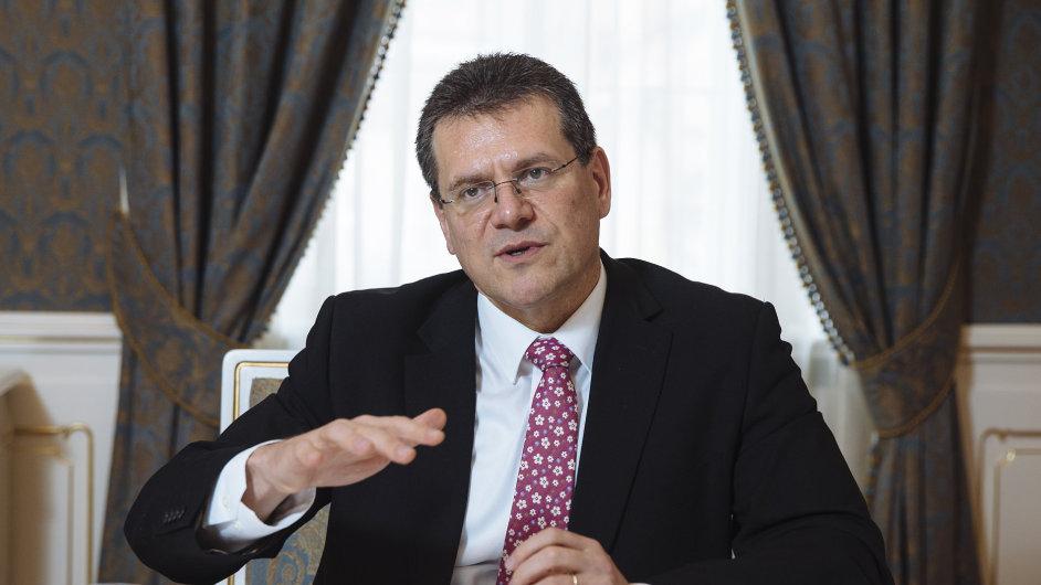 Chci rozšířit pohled ministrů energetiky z národního na evropský, říká Maroš Šefčovič