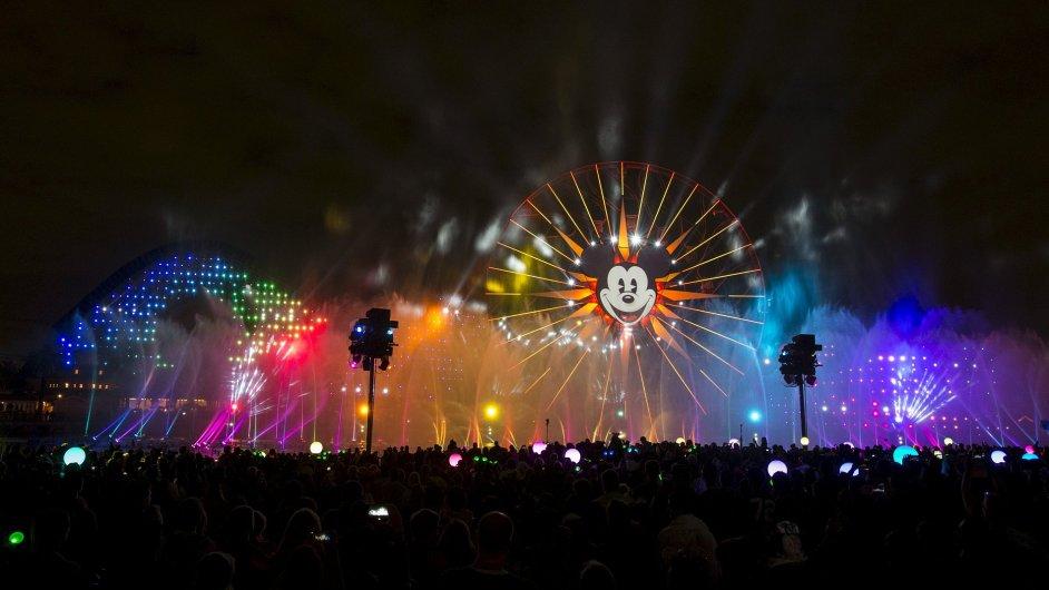 Diamantová oslava v Disneylandu v Anheimu - Ilustrační foto.