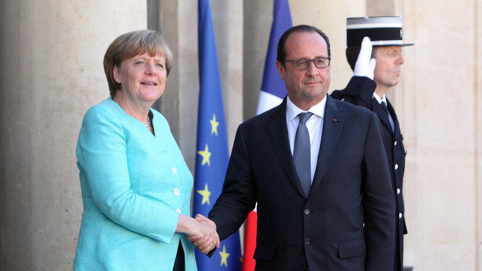 Angela Merkelová a François Hollande varovali, že Řecku nezbývá mnoho času.