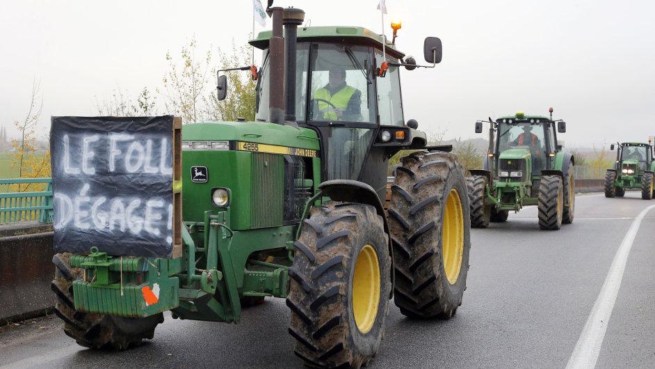 Protesty francouzských zemědělců - Ilustrační foto