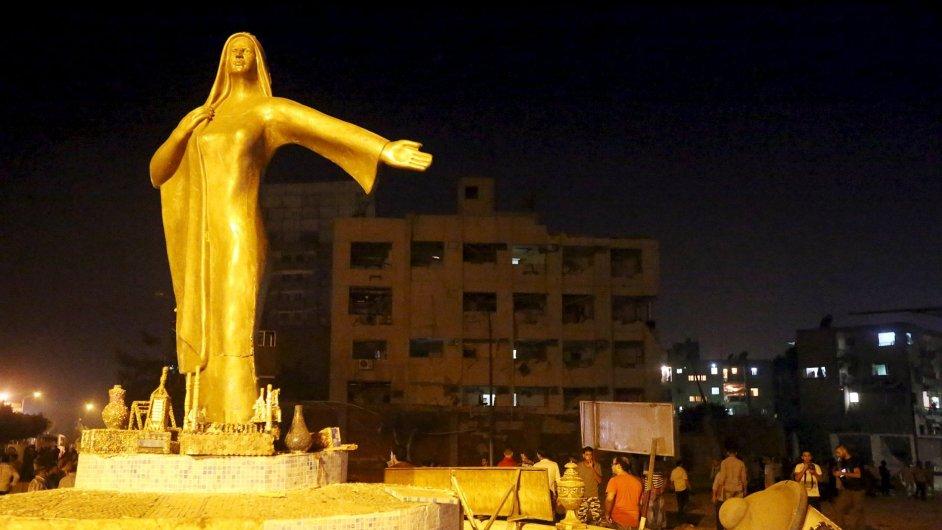 Brzy ráno výbuch v Káhiře zranil asi třicítku lidí.