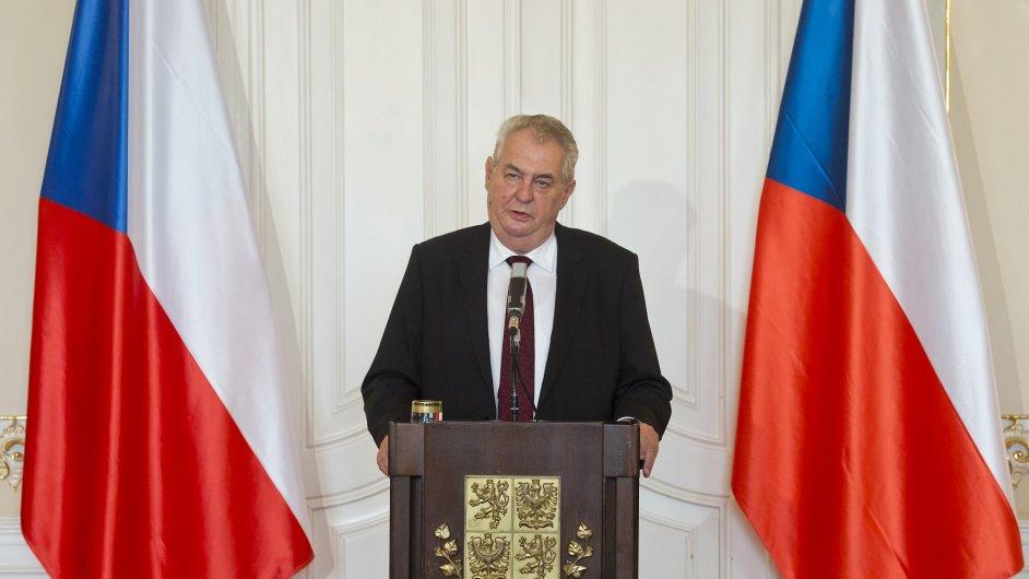 Miloš Zeman na své
