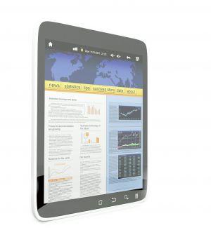 Tablet – mobilní zařízení (ilustrace)