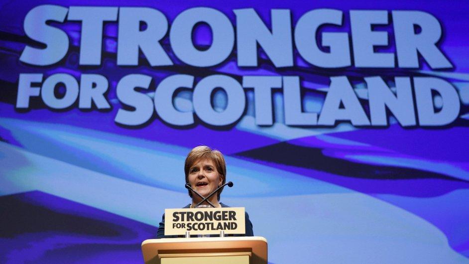 Nicola Sturgeonová na konferenci SNP