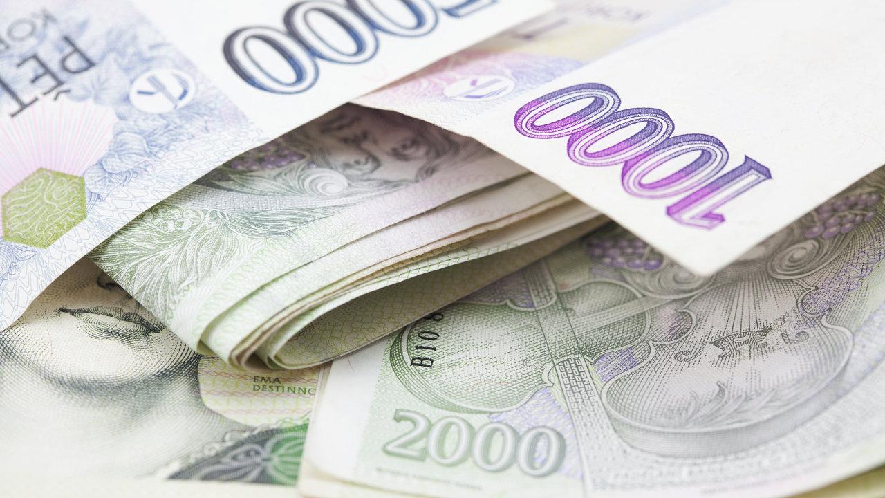 Peníze koruna bankovky