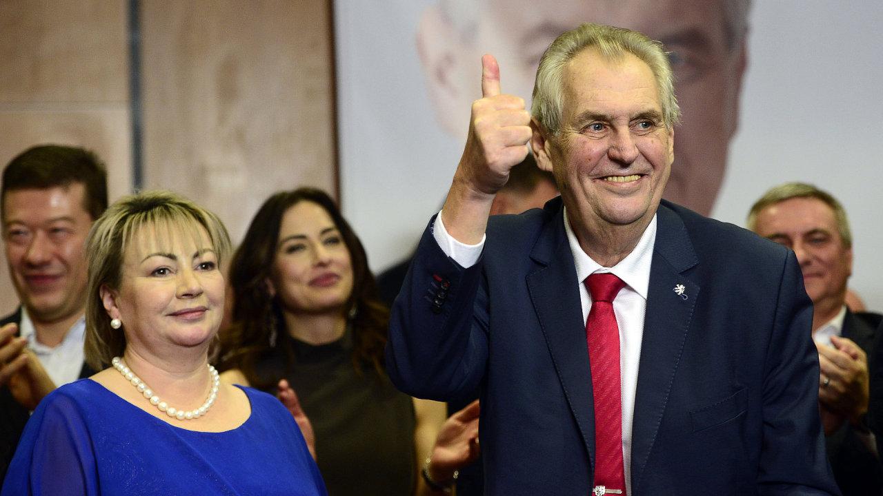 Prezident Miloš Zeman po svém znovuzvolení...