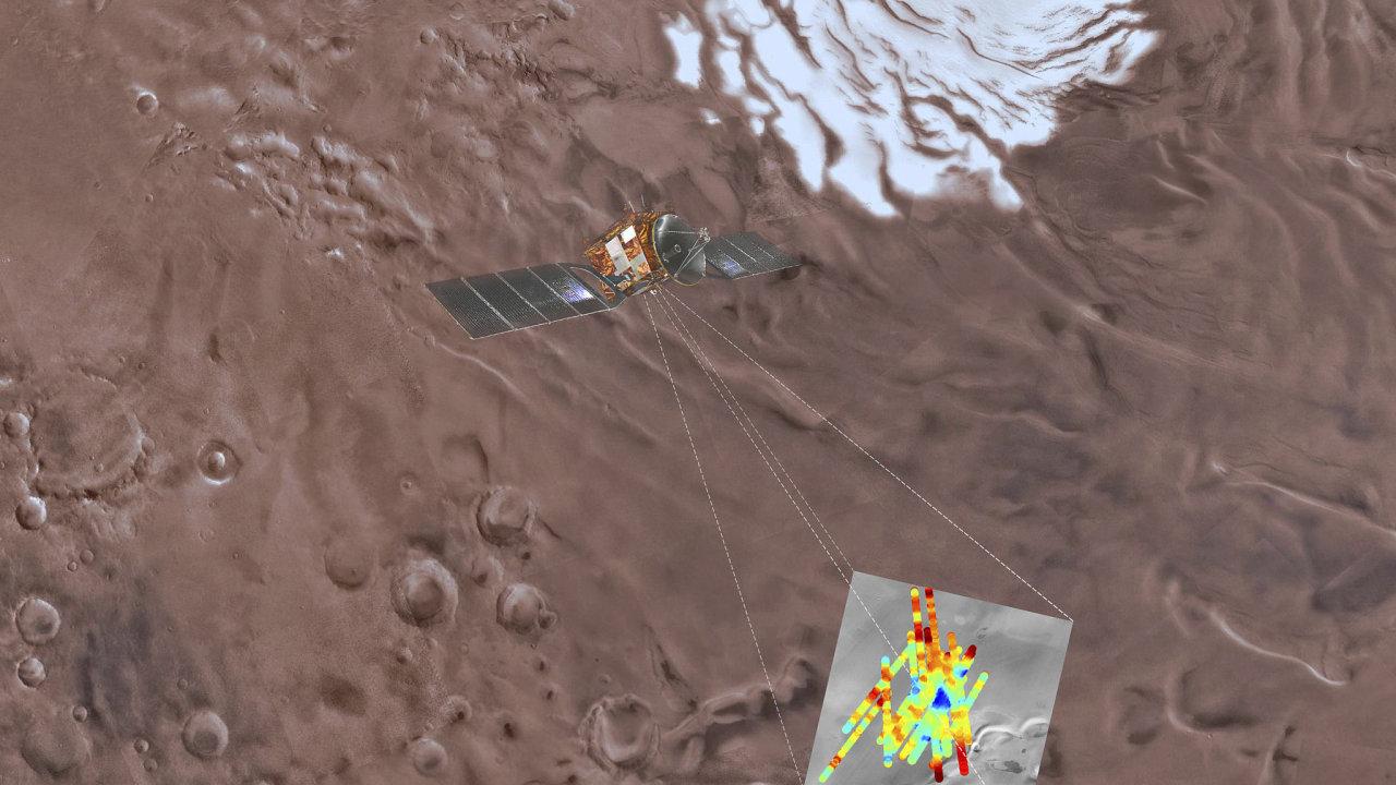 Vědci nalezli jezero pod povrchem Marsu. Poprvé v historii se podařilo prokázat přítomnost kapalné vody na této planetě.