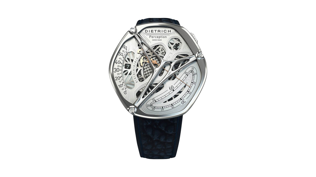 Surrealistické hodinky Perception Silver