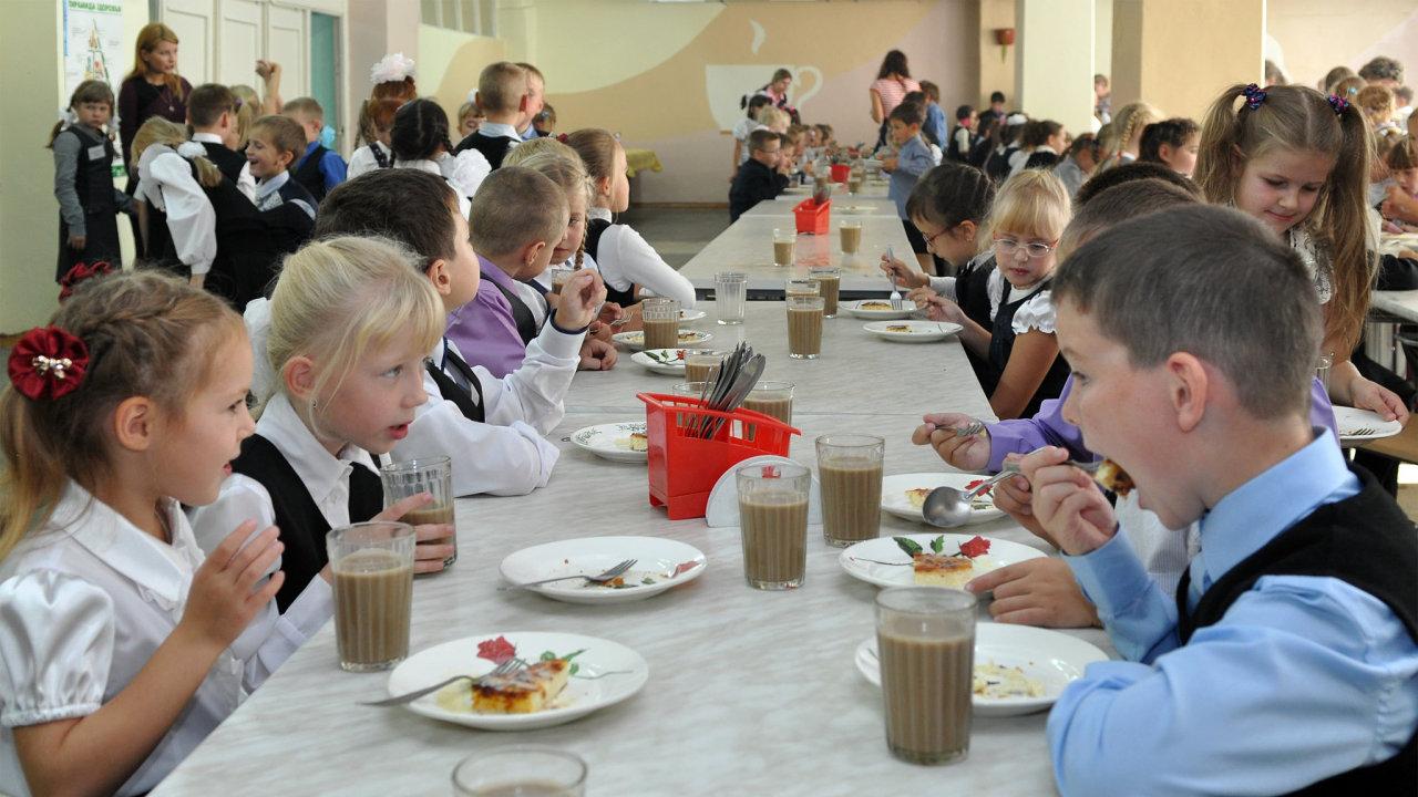 děti, škola, jídelna