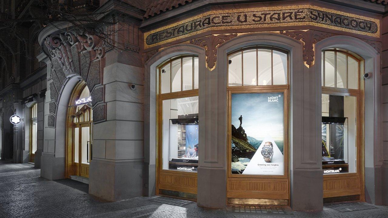 První vlajkový butik Montblanc v Praze