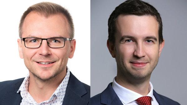 Jaroslav Ševčík a Vladimír Pojer, představenstvo Modré pyramidy