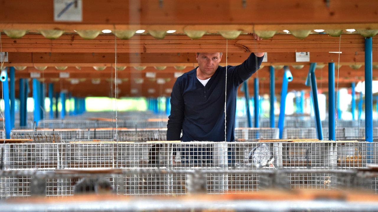 Konec kožešinových farem: David Vojtíšek choval nafarmě Norek kolem 15 tisíc zvířat kvůli kožešinám. Loni vúnoru musel klece kvůli zákonu vyprázdnit.
