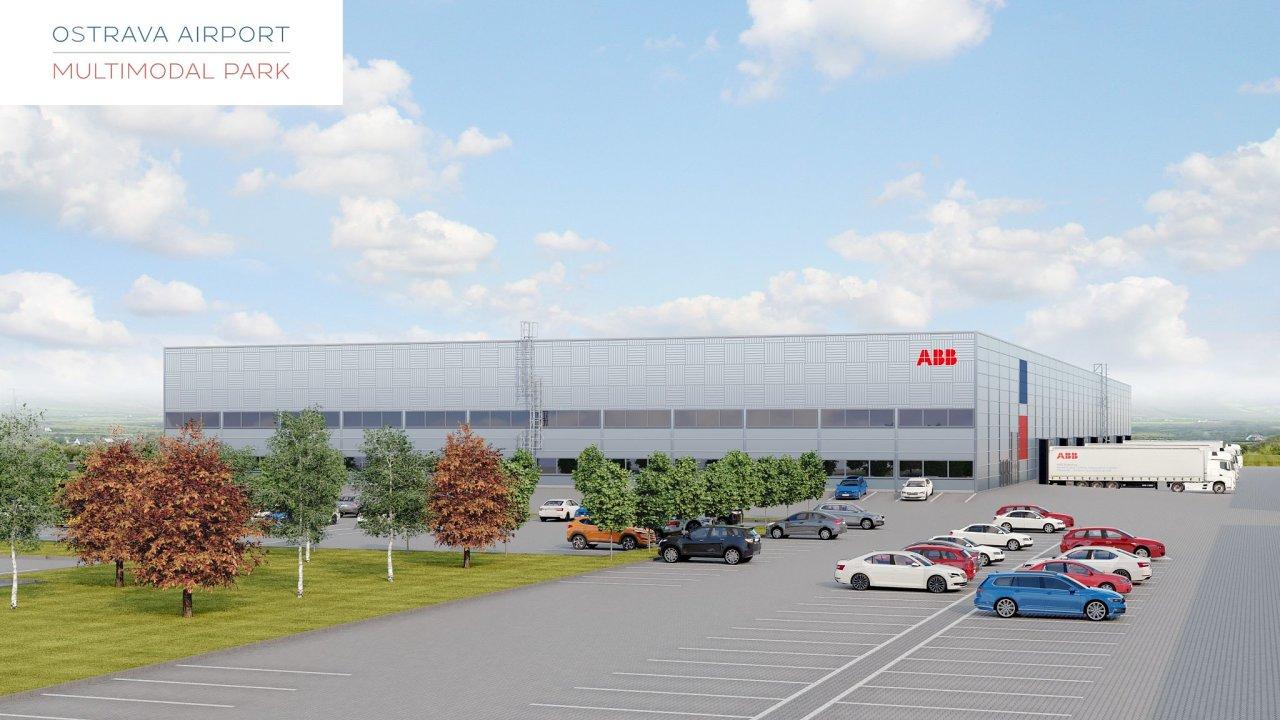 Takto by měla vypadat hala, ve které bude mít skupina ABB své nové vývojové a výrobní centrum pro robotiku. Halu firma staví v průmyslovém parku v Ostravě-Mošnově.